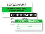 Certification Labels
