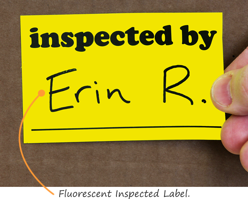 Fluorescent Inspected Label