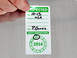 Punch Out Inspection Labels