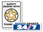 Safety, Teamwork and Quality Awareness Banners