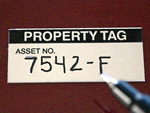 Marking your assets with Property Tags keep your inventory system organized and easy to search.