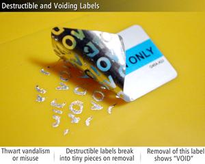 Destructible and Voiding Labels