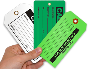 Calibration Tags - Easily track the calibration status of your tools.