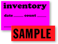 Fluorescent Inventory Control Labels