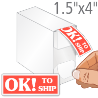 OK To Ship Labels in Dispenser