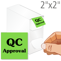 QC Approval Labels in Dispenser Box