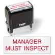 Manager must Inspect Self Inking Inspection Stamp