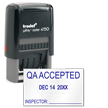 QA Accepted Date Inspection Stamp Self Inked