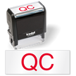 QC Quality Control Self Inking Stamp