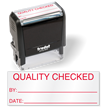 Quality Checked by Self Inking Stamp