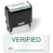 Verified By Self Inked Stamp
