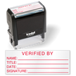 Verified By Self Inking Quality Control Stamp