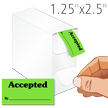 Accepted By QC Label Dispenser Box