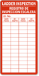 Bilingual Ladder Inspection Record Label