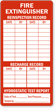 Fire Extinguisher Reinspection Record Label