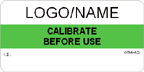 Calibrate Before Use Label [add name/logo]