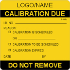 Calibration Due Label [add name or logo]