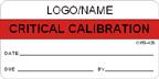 Critical Calibration Label [add name or logo]