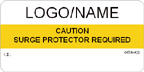 Caution - Surge Protector Required Label