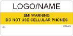 EMI Warning, Don't Use Cellular Phones Label
