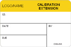Calibration Extension Label [add name or logo]