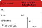Restricted Calibration Label [add name or logo]