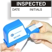 Inspected Calibration Labels, Black On White