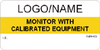 Monitor with Calibrated Equipment Label [add name/logo]