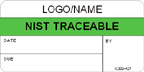 NIST Traceable Label [add name or logo]