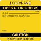 Operator Check Label [add name or logo]