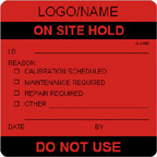 On Site Hold Label [add name/logo]
