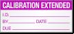 Calibration Extended Calibration Label