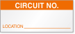 Circuit No. Calibration Label