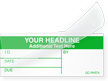 Self-Laminating Write-On Calibration Label - Add Headline, Text