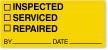 Inspected Serviced Repaired Calibration Label
