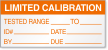 Limited Calibration Tested Range, To, ID, Date Label