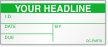 Custom Add Headline Text Calibration Label
