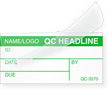 Create Own Self-Laminating Calibration Label, Name/Logo