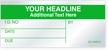Custom Self-Debossing Calibration Label - Add Headline, Text