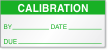 Calibration By, Date, Due Label