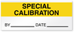 Special Calibration By Date Write-On Quality Control Label