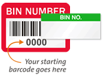 Bin Number Labels