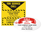 For Service Labels/ Advertising Labels
