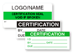 Certification Labels
