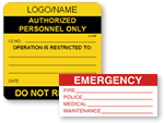 Electrical Warnings Labels