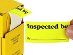 Fluorescent Inspection Labels