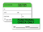 Functional Check Only Labels