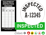 Inspected QC Labels