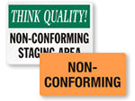 Non-Conforming Inspection Labels