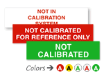 Not in Calibration Labels